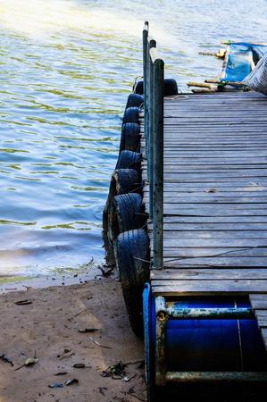 convey: Pontoon boat