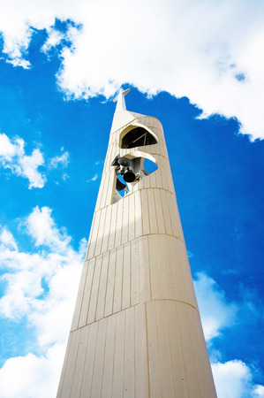 distorted image: Broadcast tower in the church