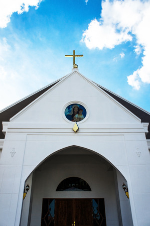 distorted image: Church in Thailand