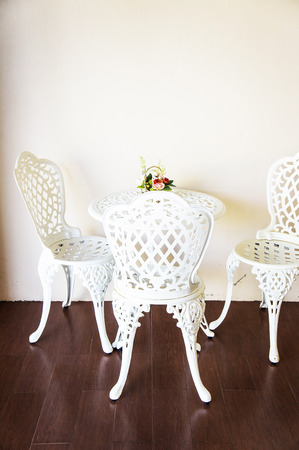nightspot: Tea table and chair Stock Photo