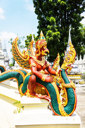 naga china: Statue of Garuda and Naga