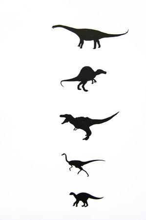 spontaneous painting: Dinosaur artistic drawing