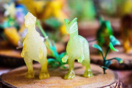 chasing tail: Dinosaur Statue