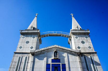 brushed aluminium: St. Annas Church Nong Saeng Stock Photo