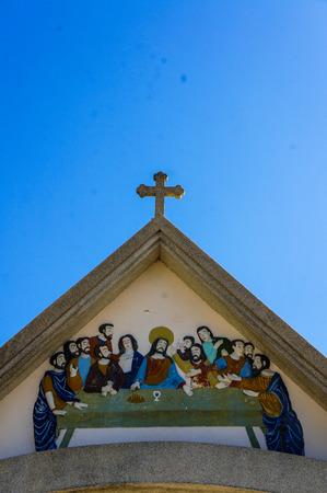 distorted image: St. Annas Church Nong Saeng Stock Photo