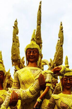 local festivals: Ubon Candle Festival in Thailand Stock Photo