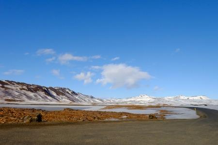 bluesky: Iceland Landscape under bluesky Stock Photo