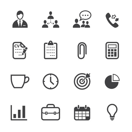Management Icons and Human Resource Icons with White Background Vector