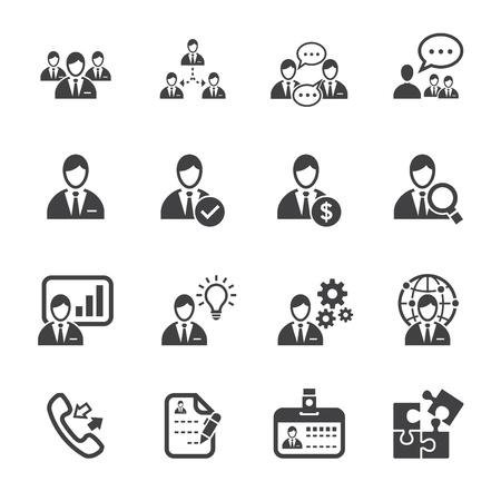 business discussion: Iconos de gesti�n e Iconos Recursos Humanos con el fondo blanco