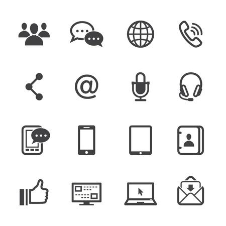 Icônes de la communication avec un fond blanc Banque d'images - 20232748