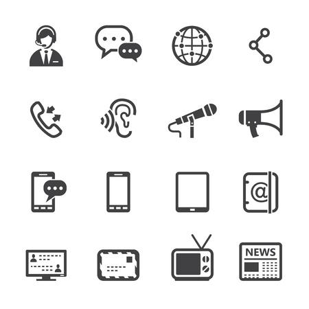 Icônes de la communication avec un fond blanc Banque d'images - 20232831