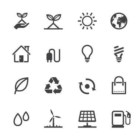 maison solaire: �cologie ic�nes avec un fond blanc Illustration
