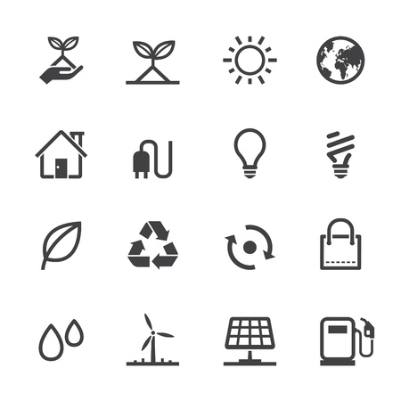 Ecology icons with White Background Vector