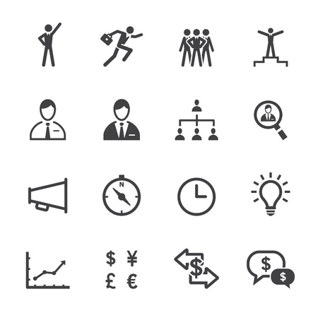 Finance Icons and Human Resource Icons with White Background Banco de Imagens - 20232824