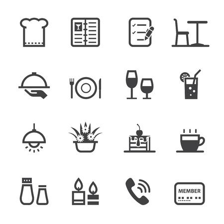 Restaurant icons with White Background Stock Illustratie