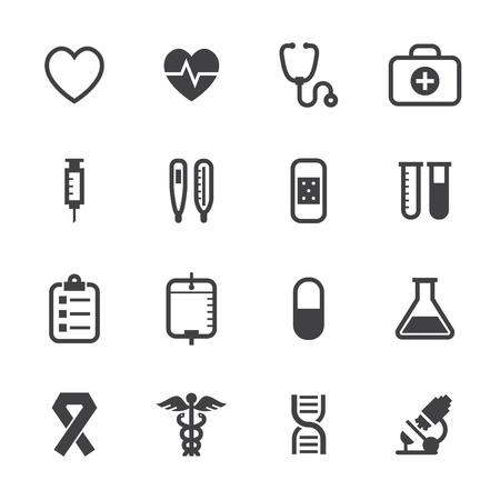 Medische Pictogrammen met witte achtergrond