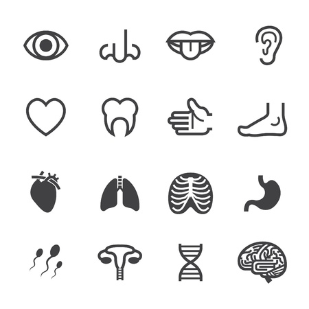 brain cancer: Medical Icons with White Background