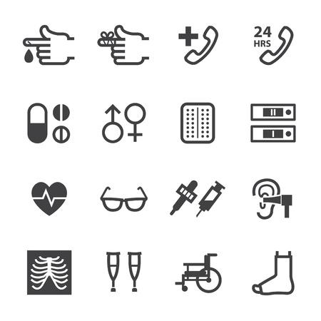 prueba de embarazo: Iconos de m?cos con fondo blanco Vectores