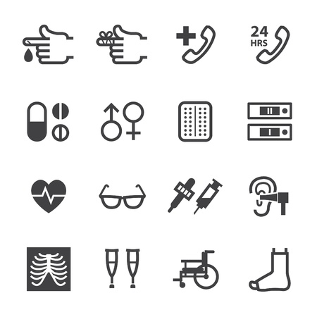lugs: Medical Icons with White Background
