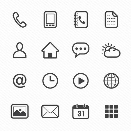 Icônes du téléphone mobile avec un fond blanc Banque d'images - 20232822