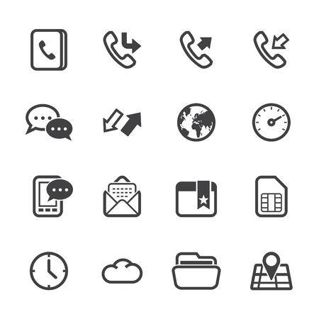 Icônes du téléphone mobile avec un fond blanc Banque d'images - 20232845