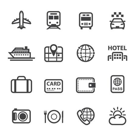 Voyage et vacances icônes avec un fond blanc Banque d'images - 20232848