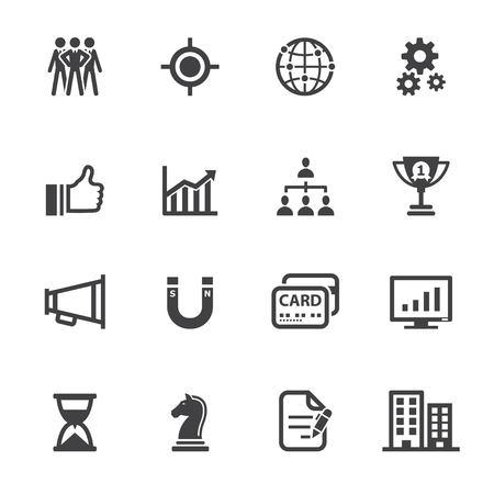 bar magnet: Business Icons and Finance Icons with White Background