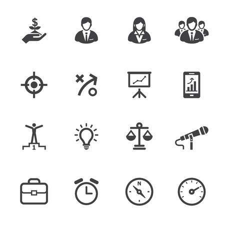Graphismes d'affaires et les icônes des finances avec un fond blanc Banque d'images - 22521857
