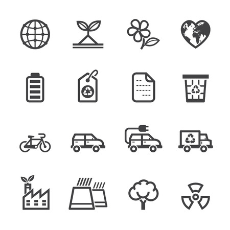 Ecology icons and Environment icons with White Background