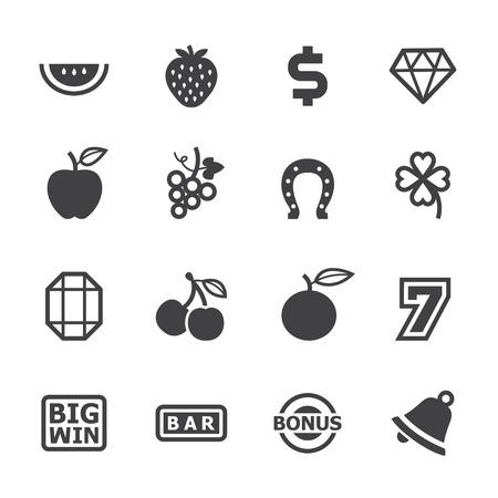 Machine à sous icônes avec un fond blanc Banque d'images - 22521880