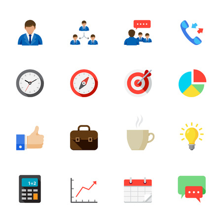 Business and Finance Icons Illustration