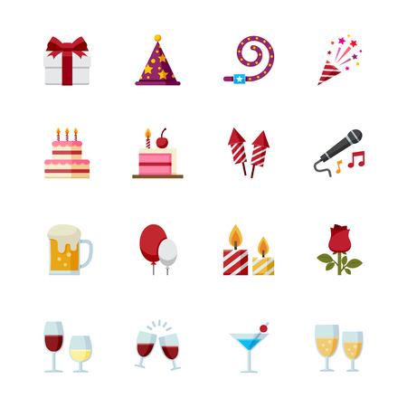Icônes du Parti et célébration icônes Banque d'images - 28641561