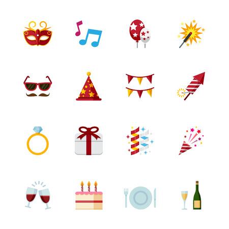Célébration des icônes et des icônes du Parti Banque d'images - 28641562