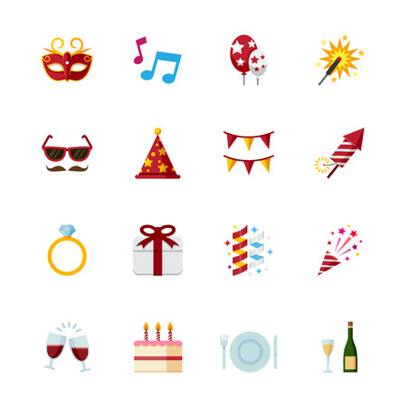 Celebration Icons and Party Icons Illustration