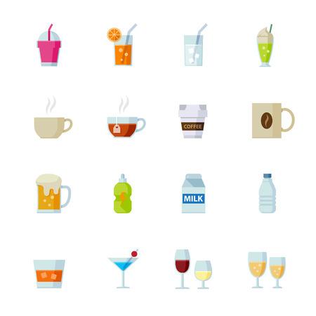 Drankje pictogrammen en Dranken Icons