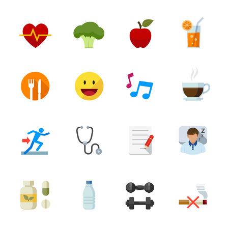 Gezondheid en wellness pictogrammen