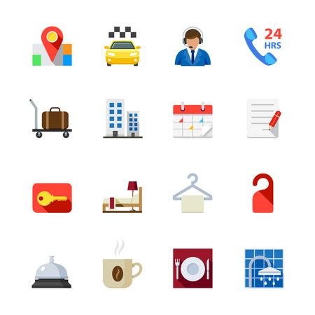 Hotel en Hotel Faciliteiten Services Icons