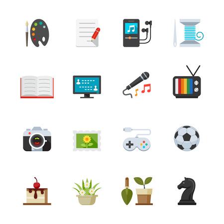 Hobbies Icons Illustration