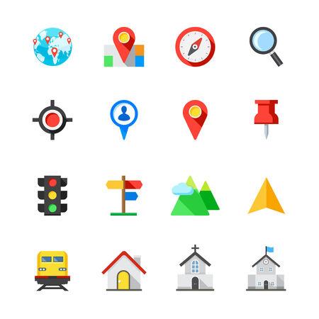 Plattegrond en locatie Icons