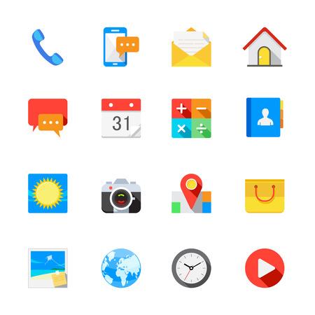 Belangrijkste iconen voor mobiele telefoon en Application