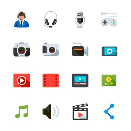 toolbar: Multimedia Icons Illustration
