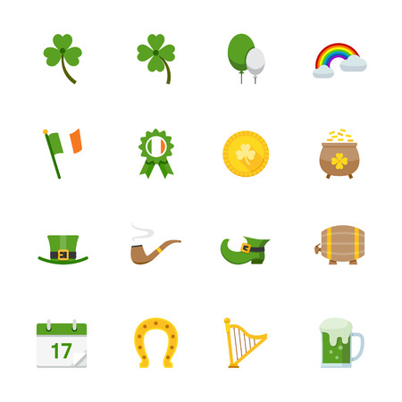 Saint Patricks Day Icons Vector