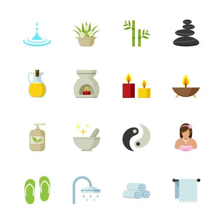 facial massage: Spa Icons Illustration