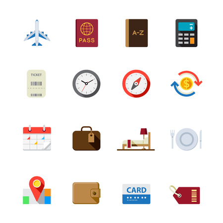 bed time: Travel Icons for application