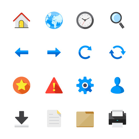 Toolbar Icons for Application and website Stock Vector - 28641628