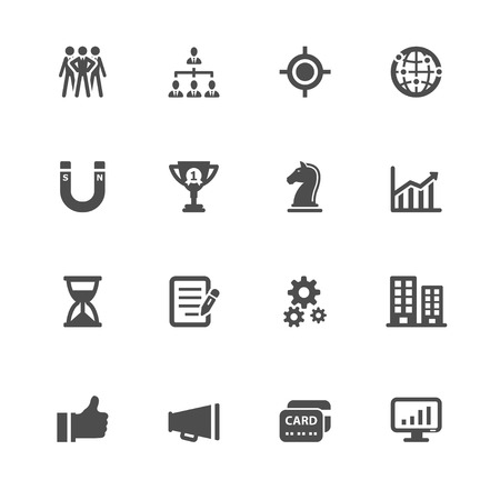 bar magnet: Business and Finance Icons with White Background