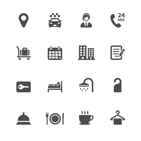 amenities: Hotel and Hotel Amenities Services Icons