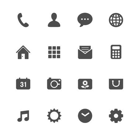 携帯電話アプリケーションのアイコン  イラスト・ベクター素材