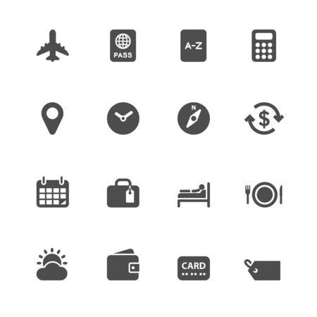 appointment book: Travel Icons for application