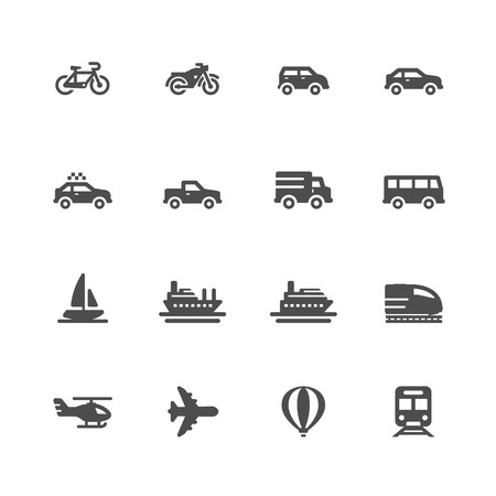 subway road: Transportation and Vehicles Icons Illustration